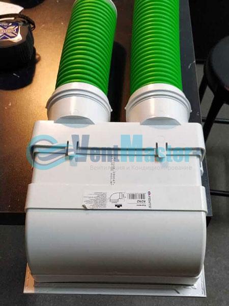 Установка воздуховодов Blaufast для центральной вентиляции Фото28