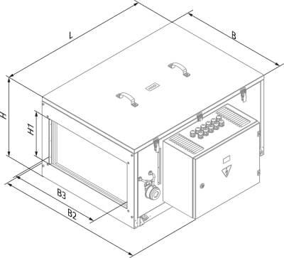 Размеры Blauberg BLAUBOX MW750-4 Pro