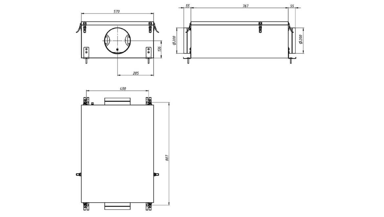 Схема размеров Minibox.FKO