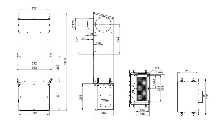 Схема размеров Minibox.Home-350