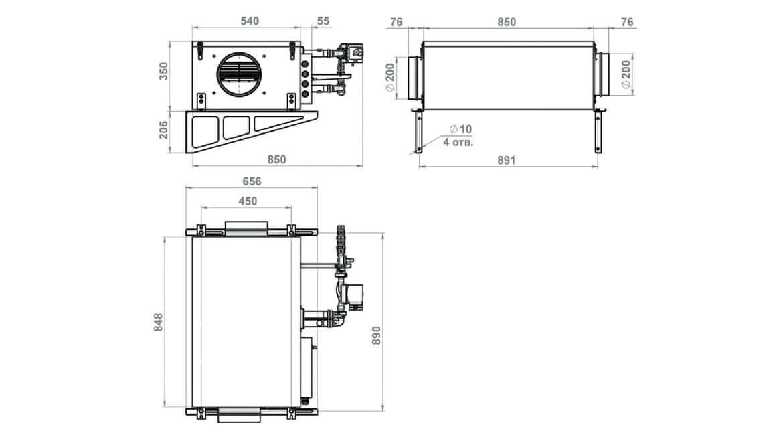 Схема размеров Minibox.W-1050