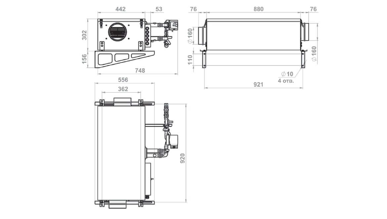 Схема размеров Minibox.W-650