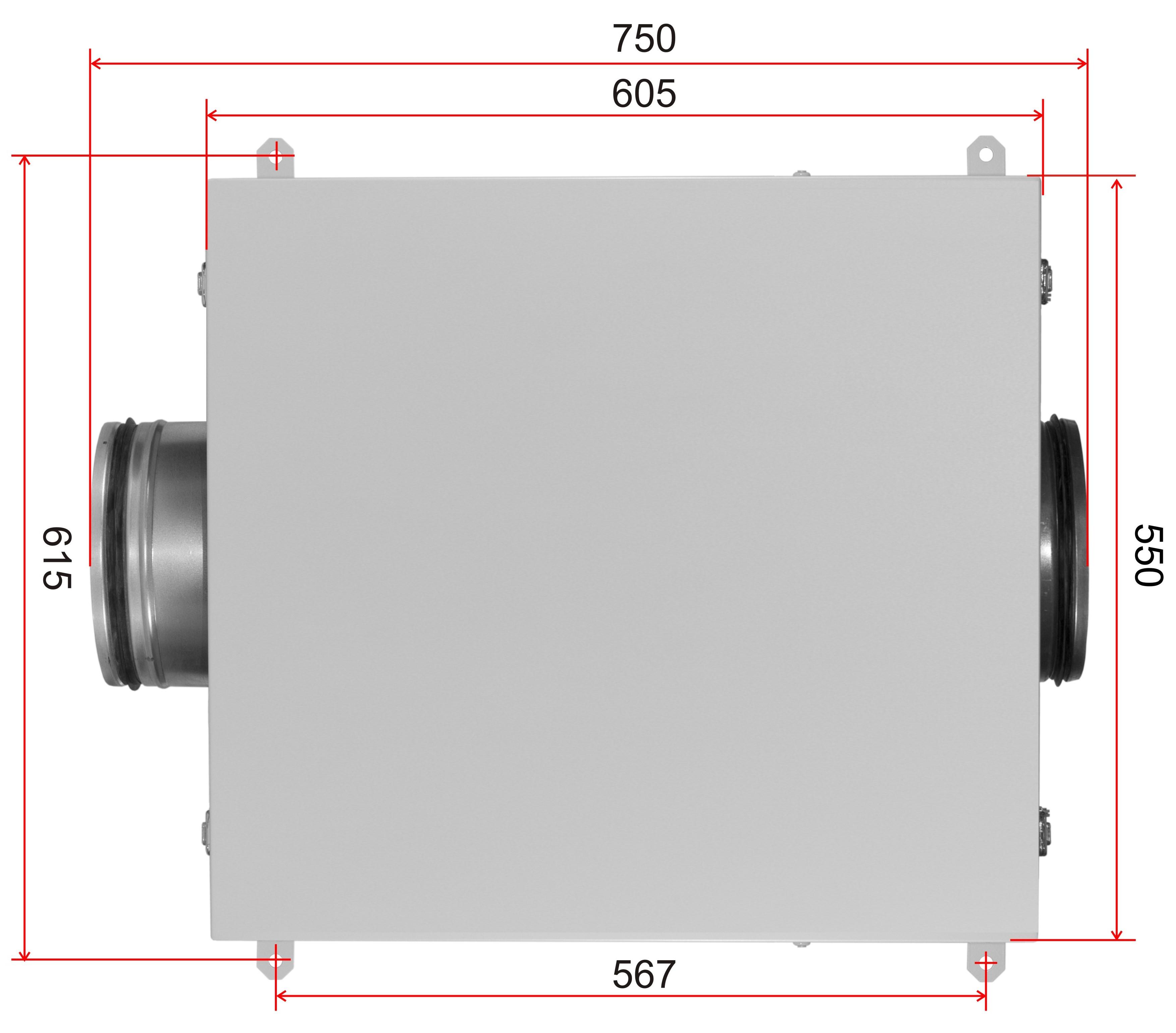 Схема размеров ВентБокс - 1000 VB фото 3