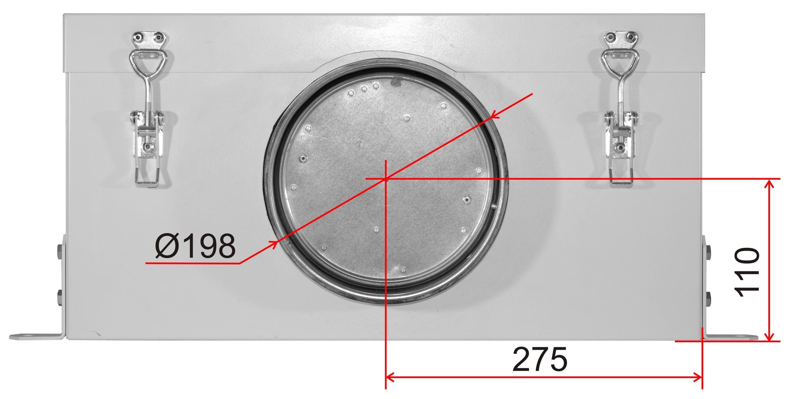 Схема размеров ВентБокс - 1000 VB фото 1