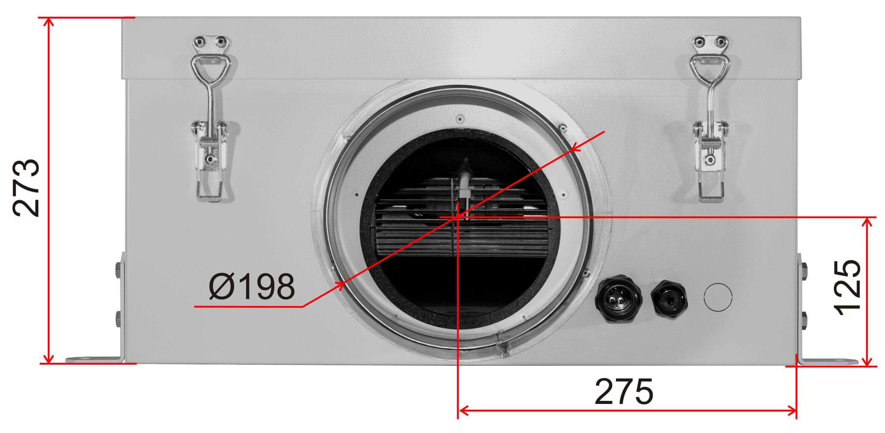 Схема размеров ВентБокс - 1000 EC VB фото 2
